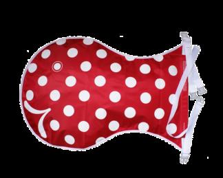 Wickelfisch Rot - Weiß gepunktet
